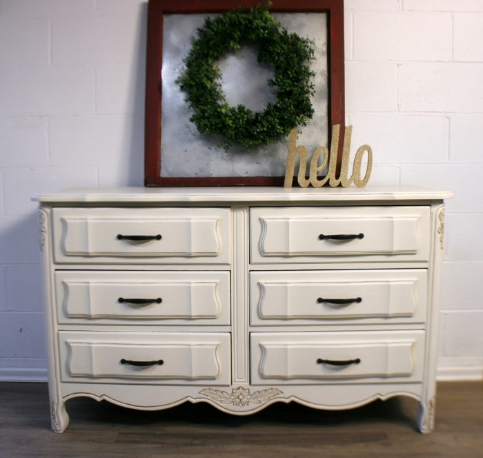 Antique White Dresser Before and After • Roots & Wings ...