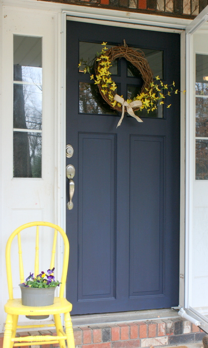 Front Door Makeover With General Finishes Milk Paint Roots