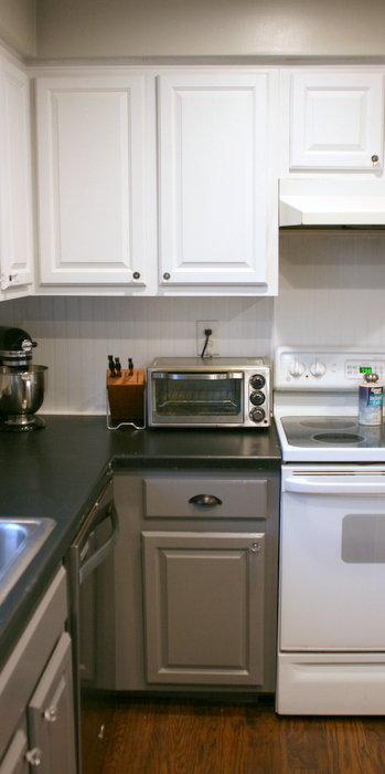 Tuxedo Kitchen Cabinet Makeover • Roots & Wings Furniture LLC