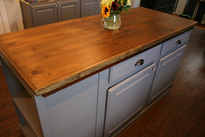 Upcycled Kitchen Island with Reclaimed Wood Top • Roots ...