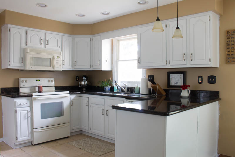 How to Paint Your Kitchen Cabinets White • Roots & Wings ...