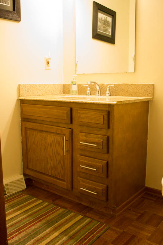 Restaining Bathroom Cabinets With Water Based Wood Stain