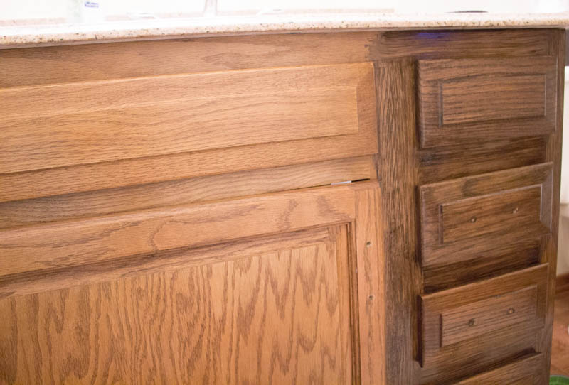 Restaining Bathroom Cabinets With Water Based Wood Stain Roots Wings Furniture Llc