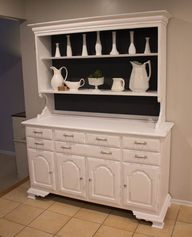 Snow White Hutch Makeover • Roots & Wings Furniture LLC