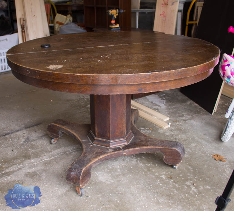 Pedestal Kitchen Table Makeover Roots Wings Furniture Llc