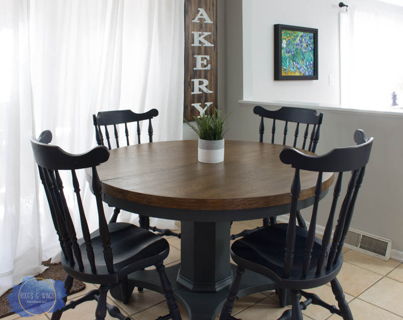 Pedestal Kitchen Table Makeover • Roots & Wings Furniture LLC