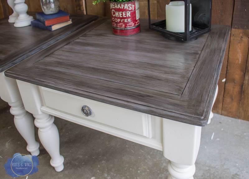 Farmhouse End Table Makeover The Barn Wood Finish Roots Wings Furniture Llc