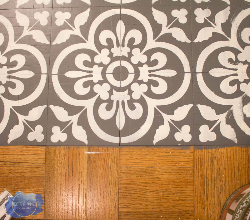 Painting Hardwood Floor To Look Like Moroccan Tile • Roots