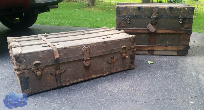 Steamer Trunk Coffee Table Roots