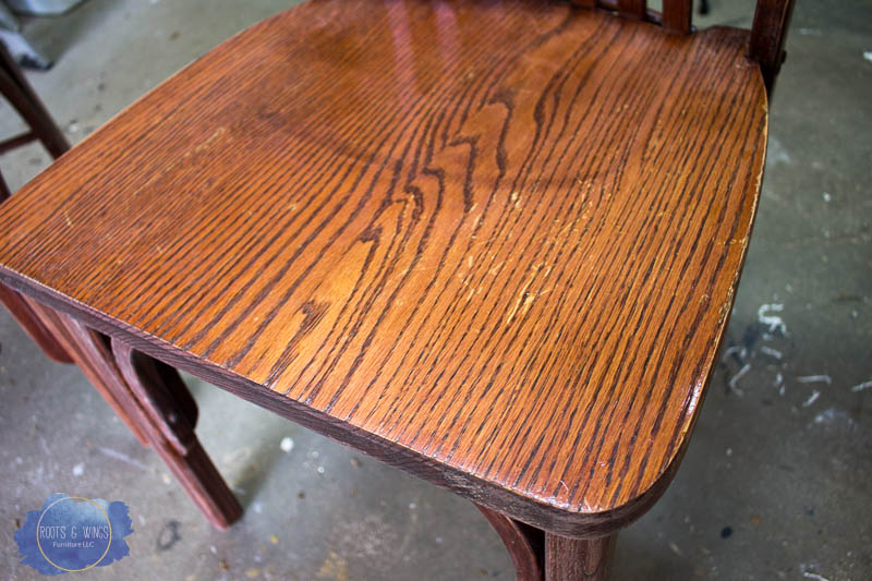 Scuff Sand The Existing Finish I By Hand Using 220 Grit Sandpaper Use Circular Motions To Scratch Up Give New
