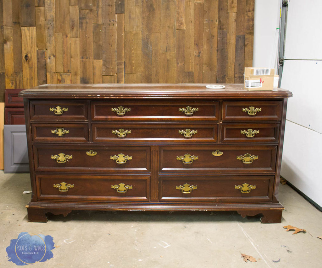 Before And After Purple Dresser Makeover Roots Wings Furniture Llc