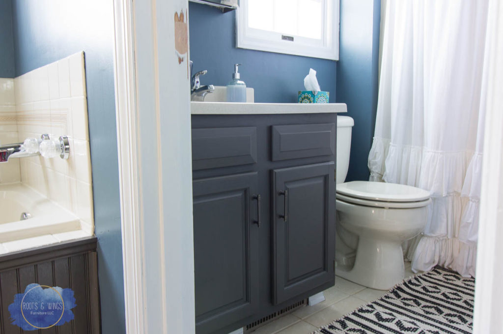 How To Completely Change Bathroom Cabinets With Paint Roots Wings Furniture Llc